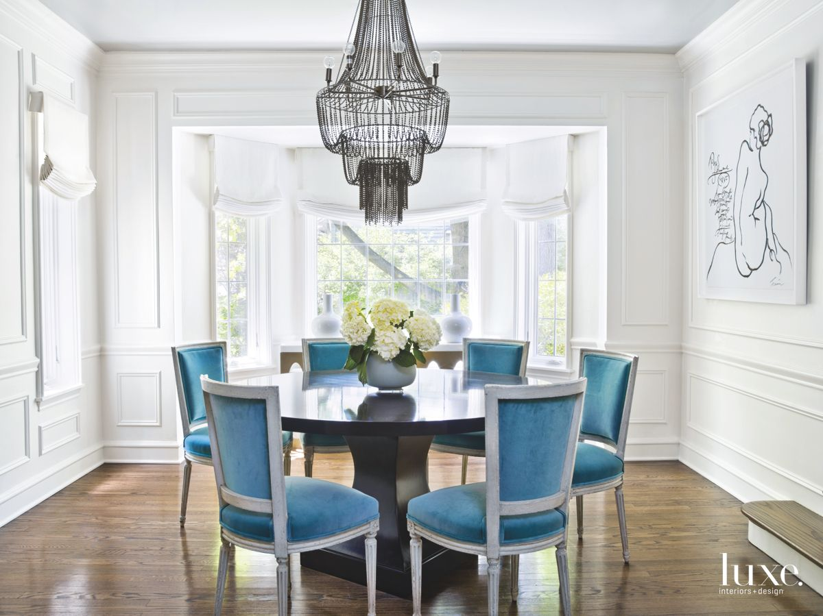 Dining Room with Antique Louis XVI Chairs