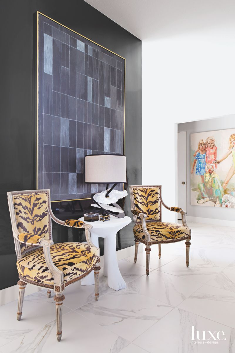 Animal Print Chairs with Artwork Backgrounds
