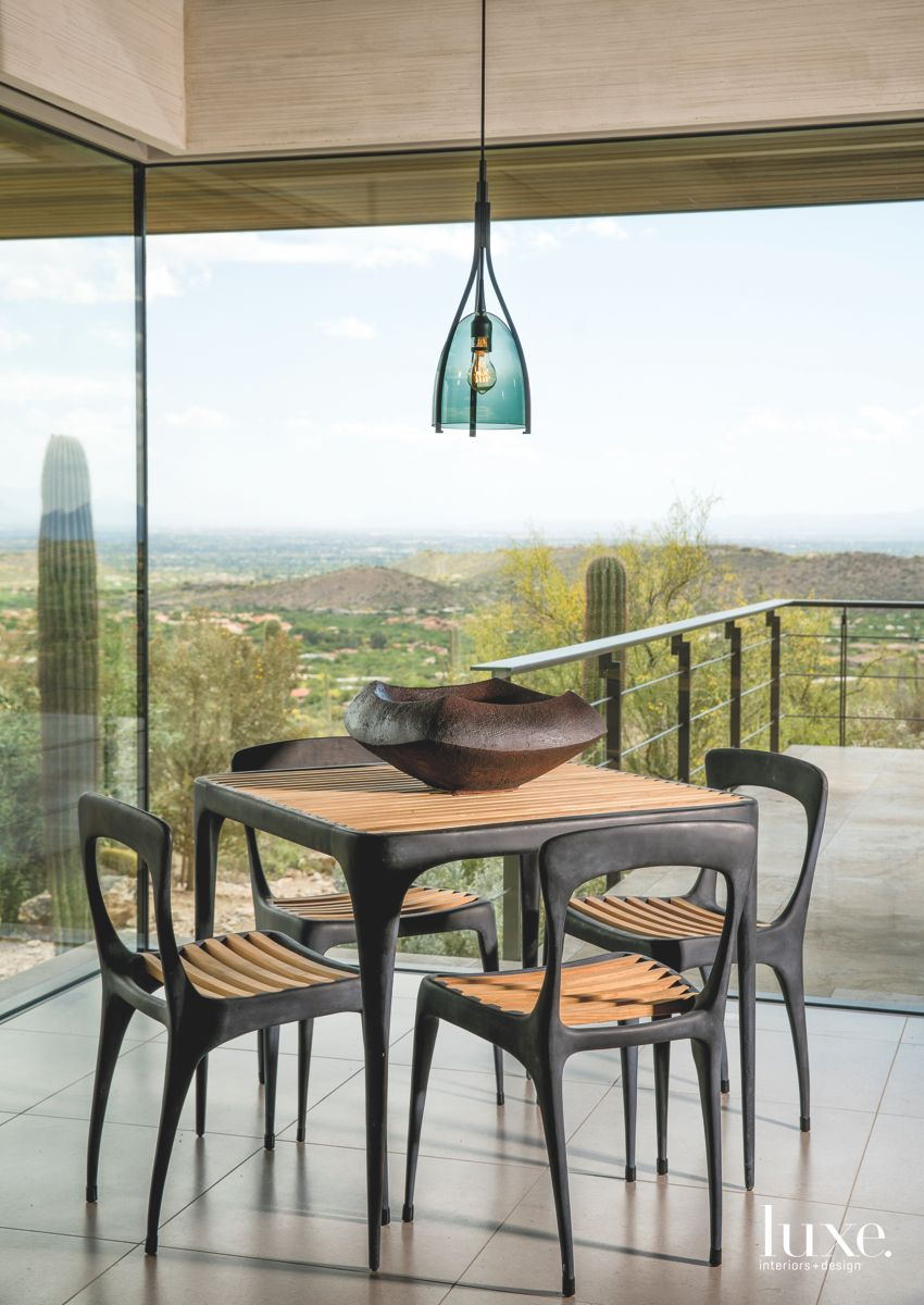 Views and Light into an Arizona Guest House Dining Area