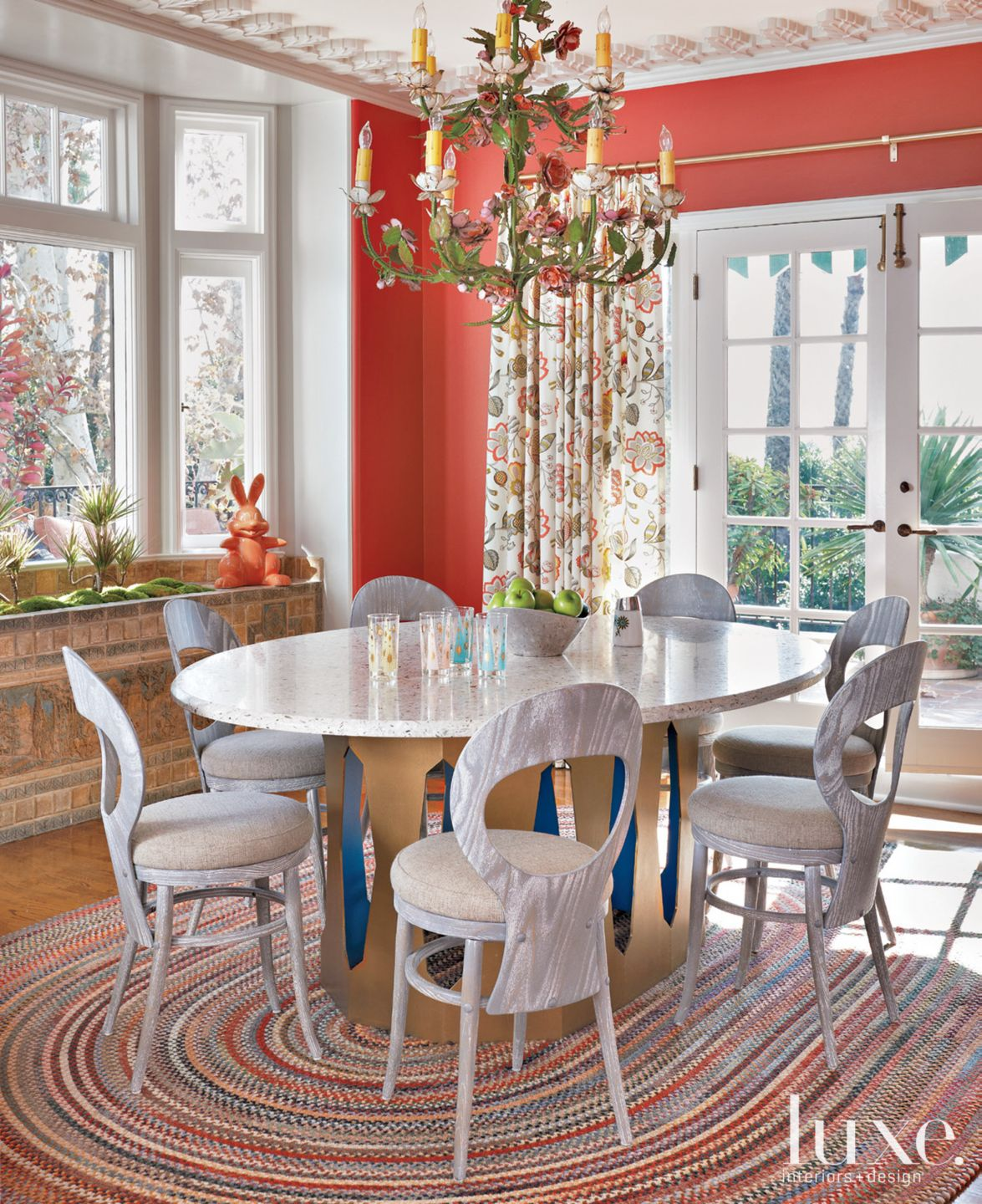 Multi-Colored Country Breakfast Area