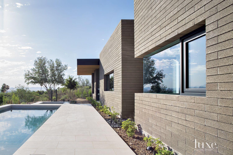 Modern Gray Poolside Landscape