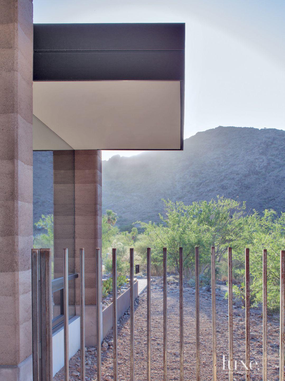 Modern Cantilevered Steel Fence
