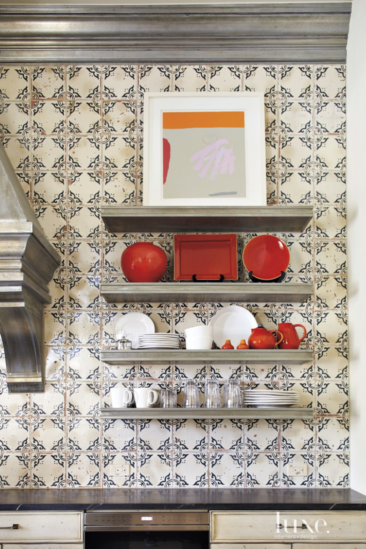 Mediterranean Kitchen Tiled Backsplash