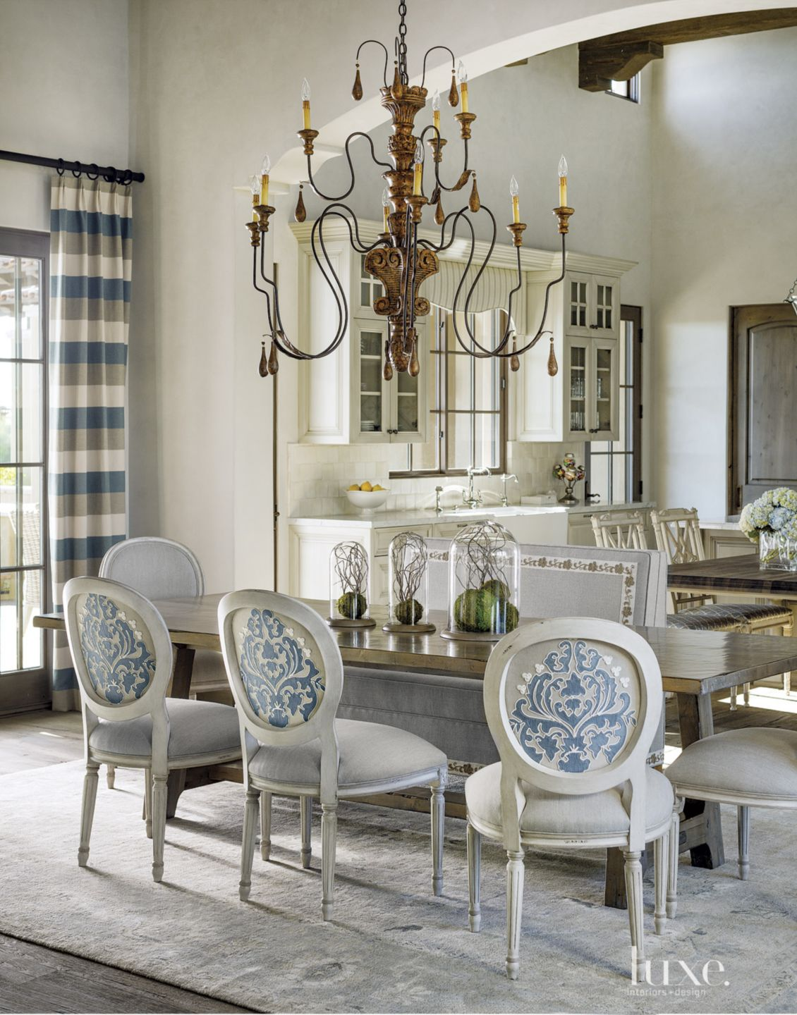 Mediterranean Cream Dining Room