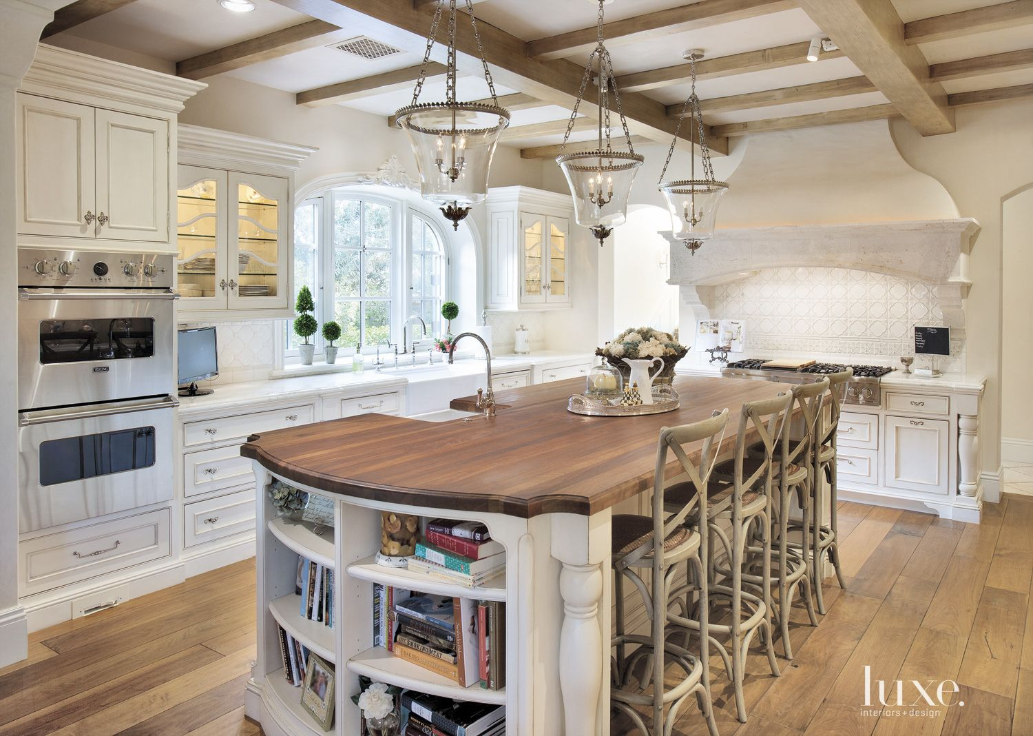 Country Cream Kitchen Island