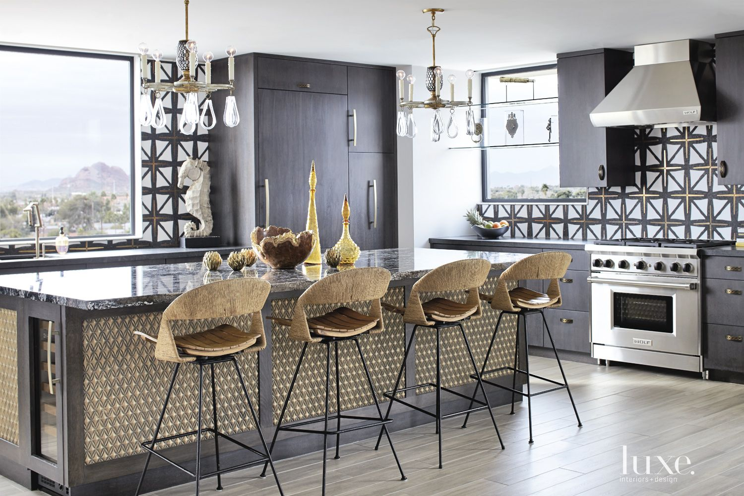 Eclectic Black Kitchen Island