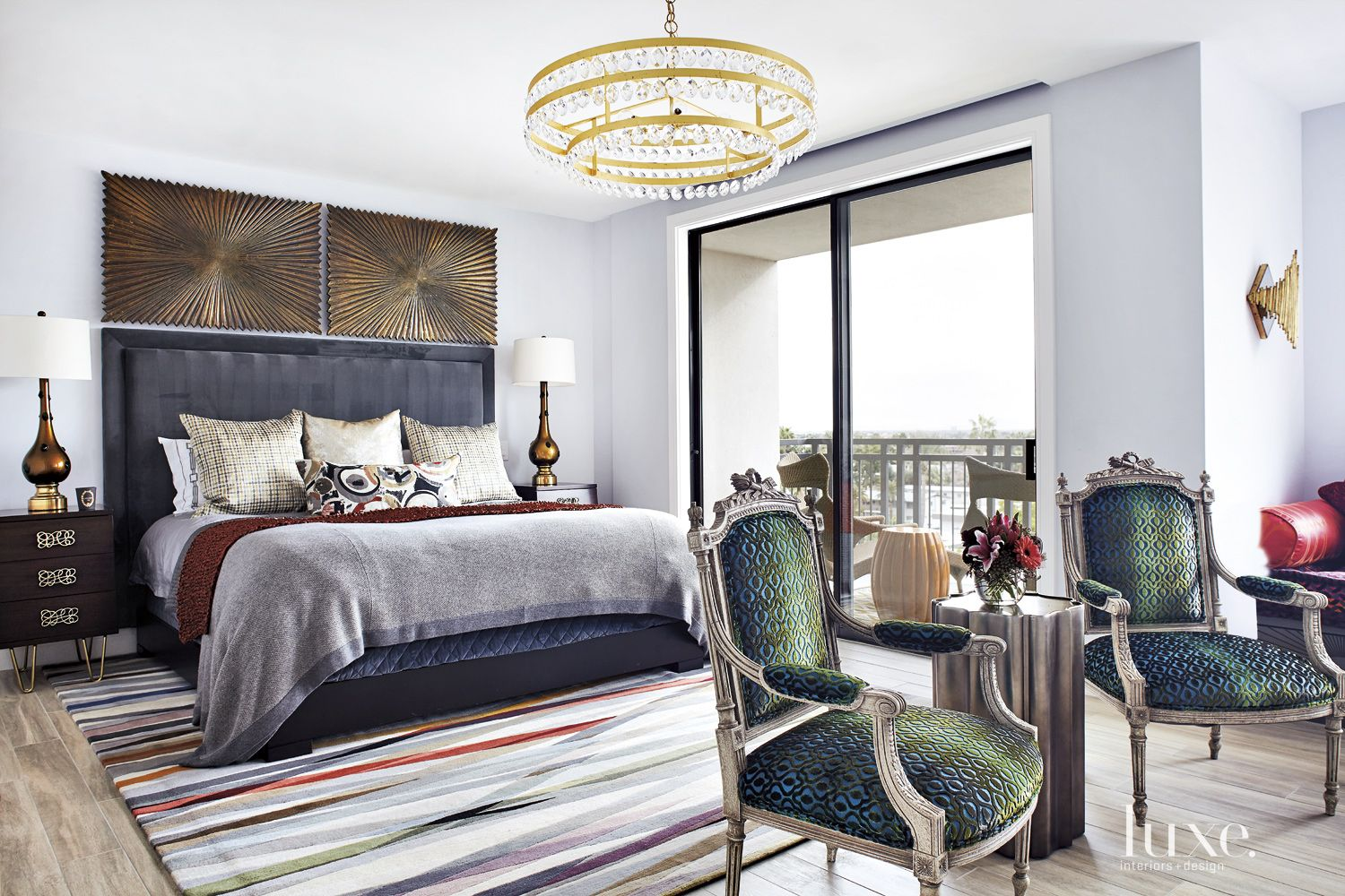 Eclectic White Master Bedroom
