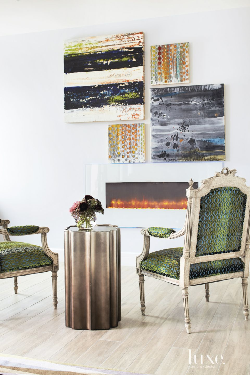 Eclectic Green Master Bedroom Chairs