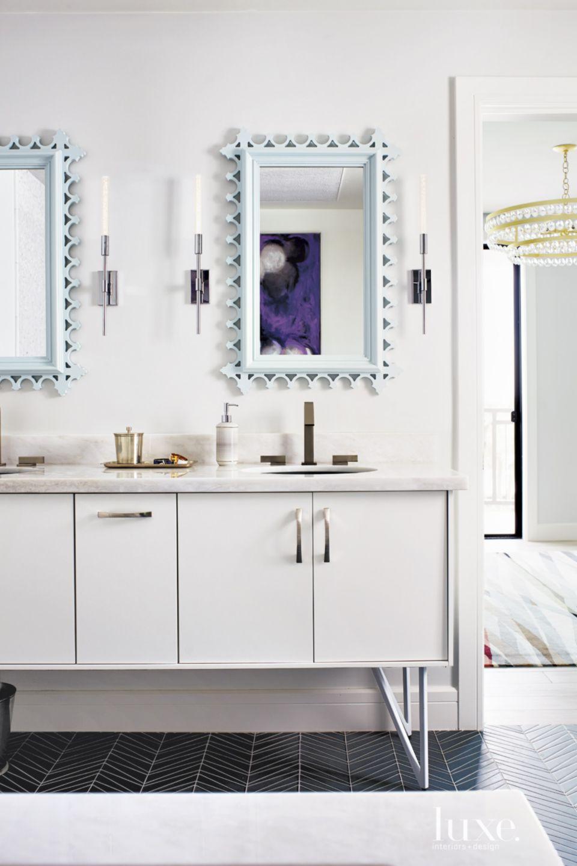 Eclectic White Master Bath Vanity
