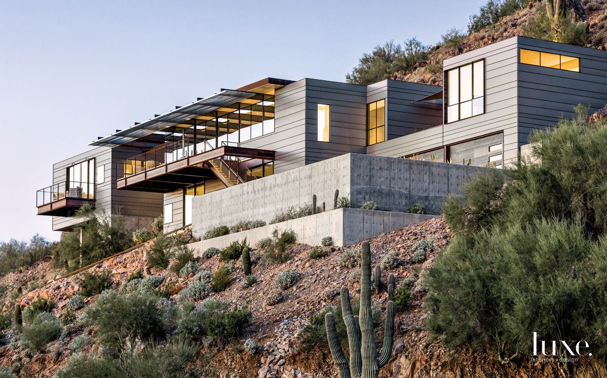 Modern Gray Exterior with Industrial-Grade Materials