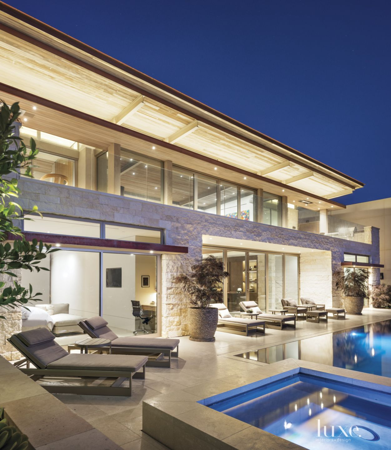 Modern Neutral Poolside Patio