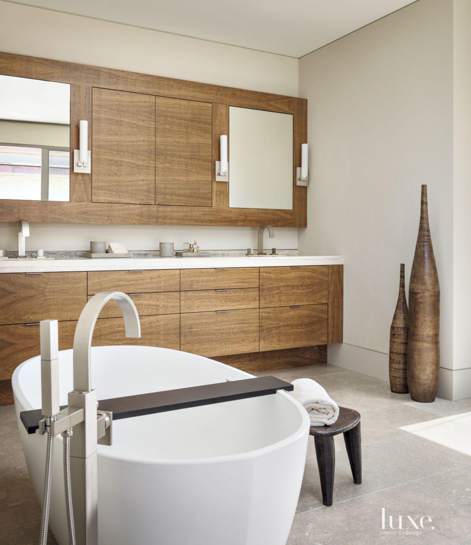 Modern Cream Master Bath