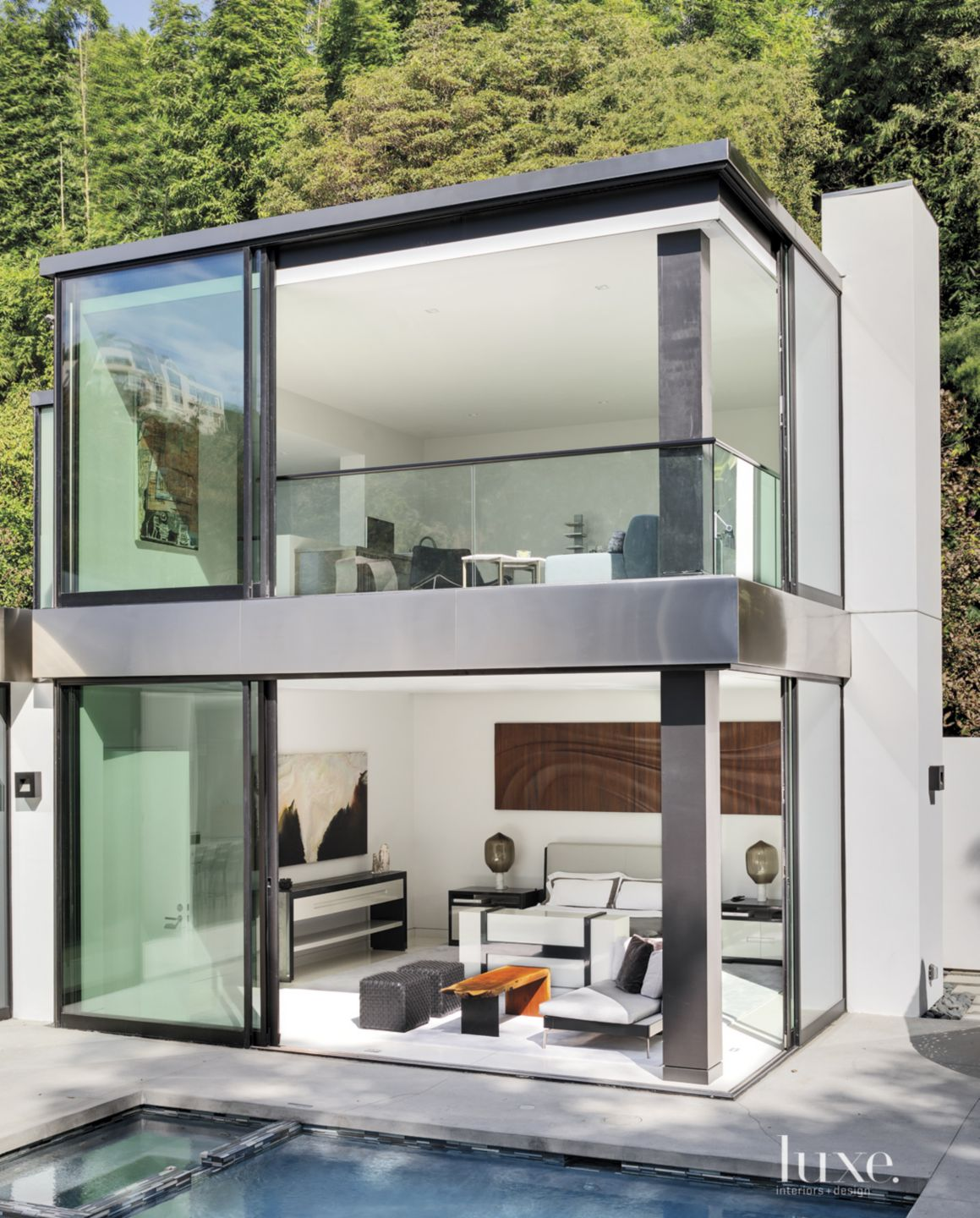 Modern Glassed-in Master Bedroom with Massive Windows