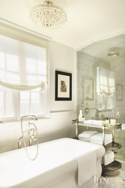Contemporary Cream Master Bath