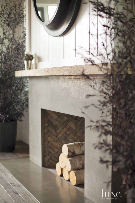 Contemporary Wood Fireplace Mantel
