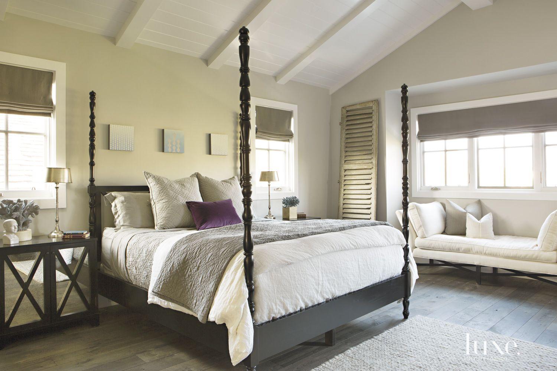 Contemporary Cream Master Bedroom