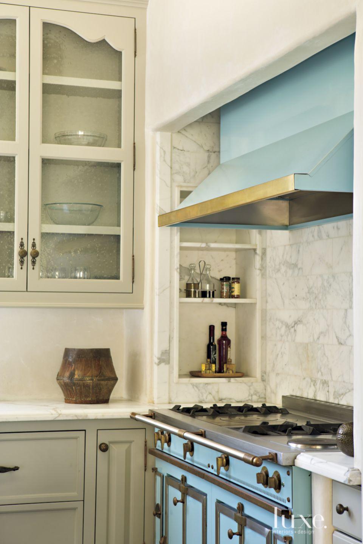 Contemporary Aqua Kitchen Range