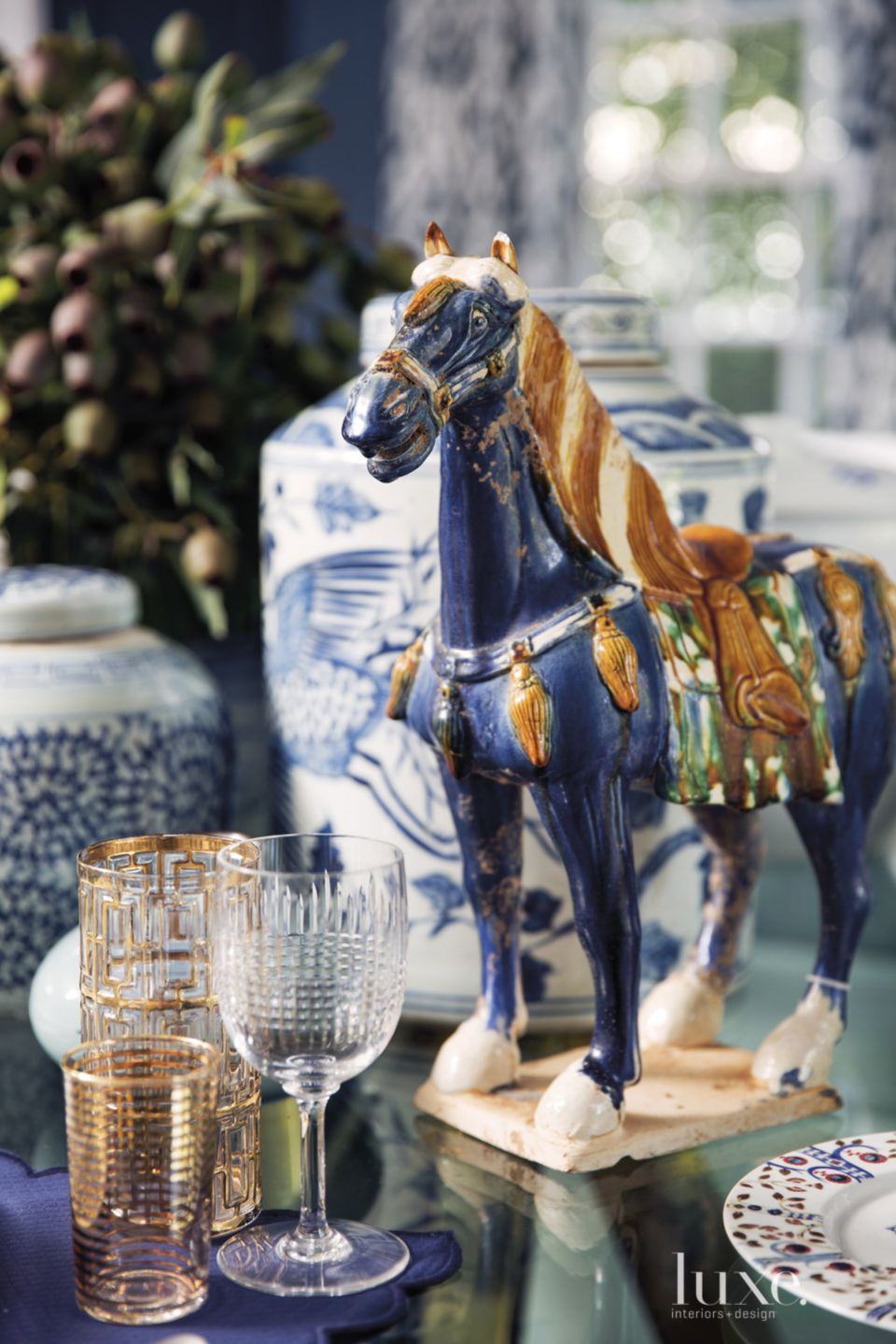 Eclectic Dining Room Tabletop Accents