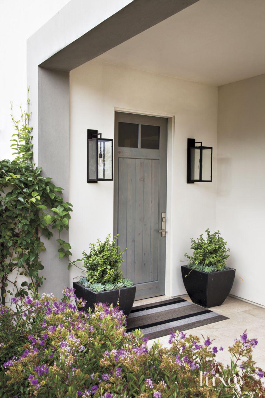 Contemporary Gray Front Door