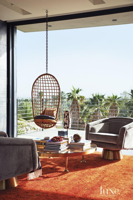 Modern Indoor-Outdoor Seating Area