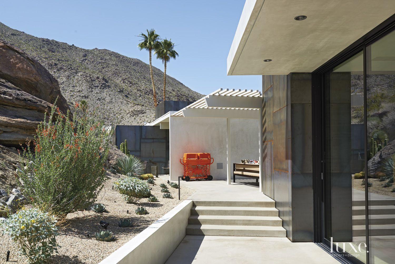 Modern Concrete Walkway