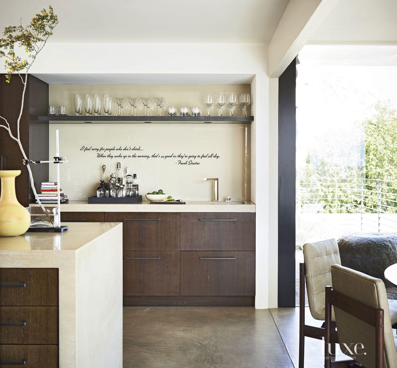 Modern Cream Kitchen Backsplash