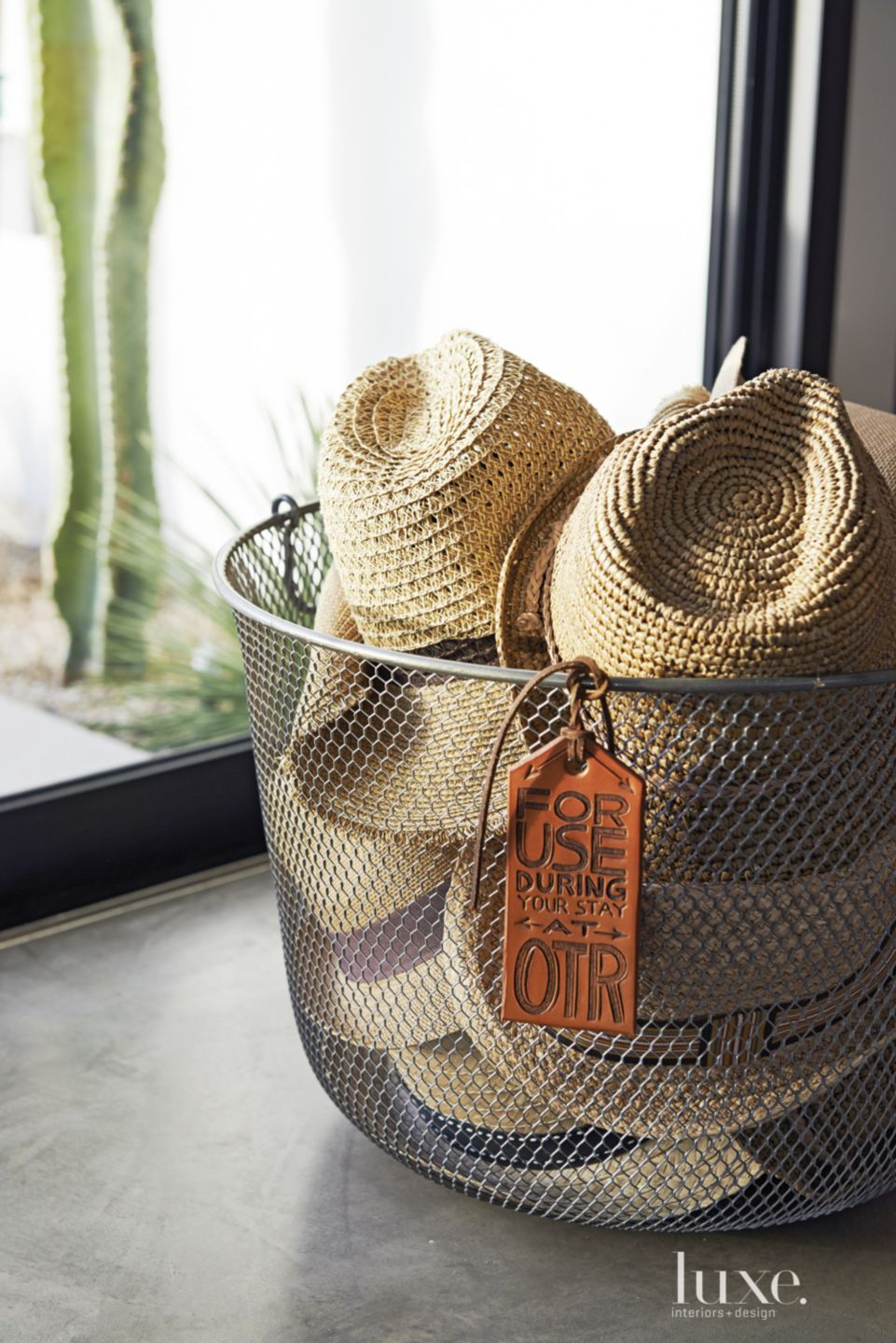Sunhat Wire Basket Accent