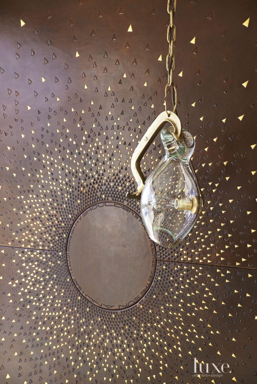 Modern Master Bedroom Glass Pendant