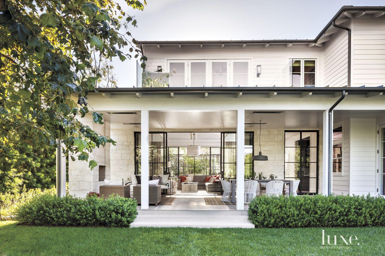 Contemporary Cream Exterior with Open Floor Plan