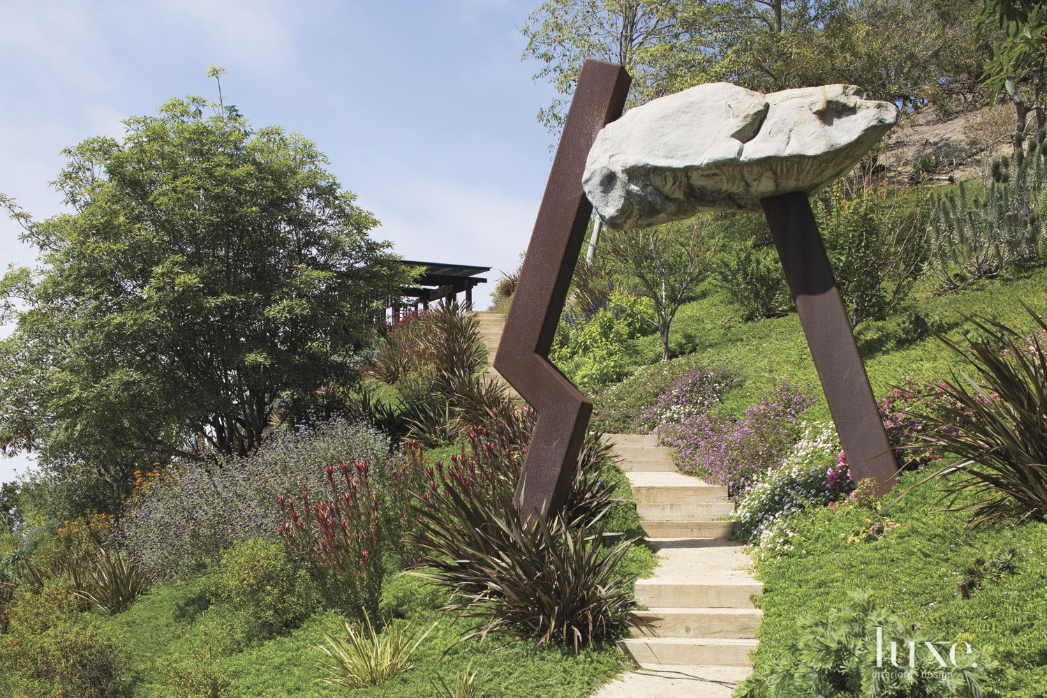 Contemporary Neutral Sculpture with Pathway