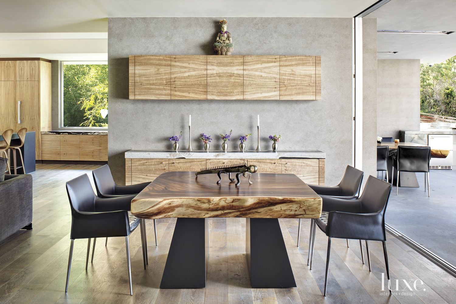 Contemporary Neutral Great Room with Game Table