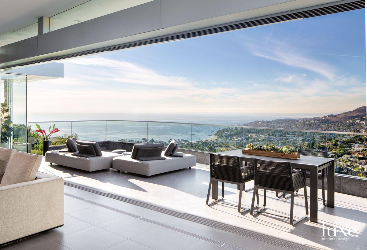 Modern Neutral Terrace with Ocean Views