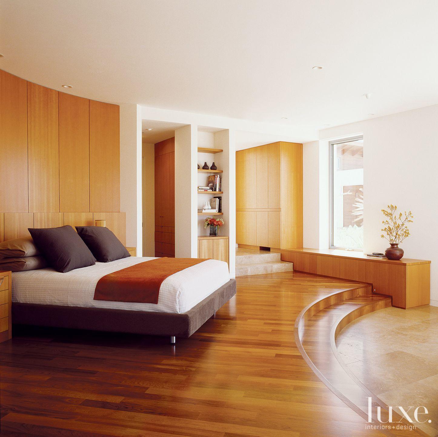 Modern Cream Curved Master Bedroom