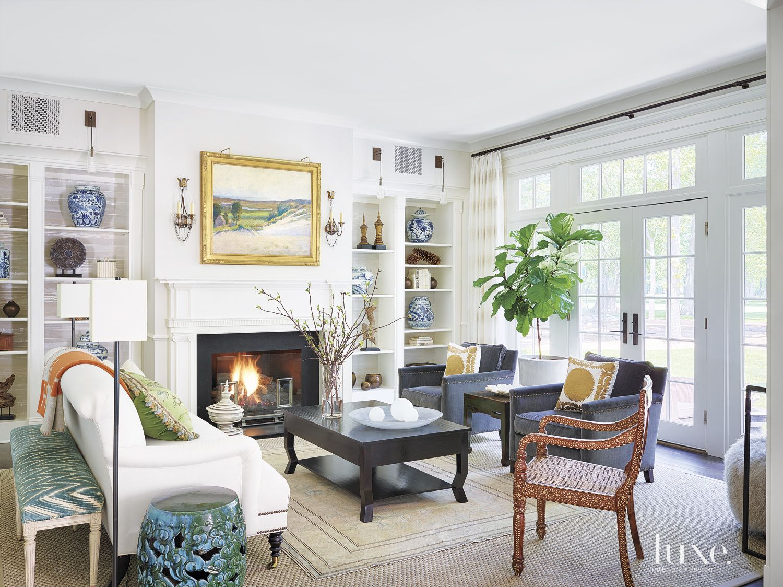 Contemporary White Living Room