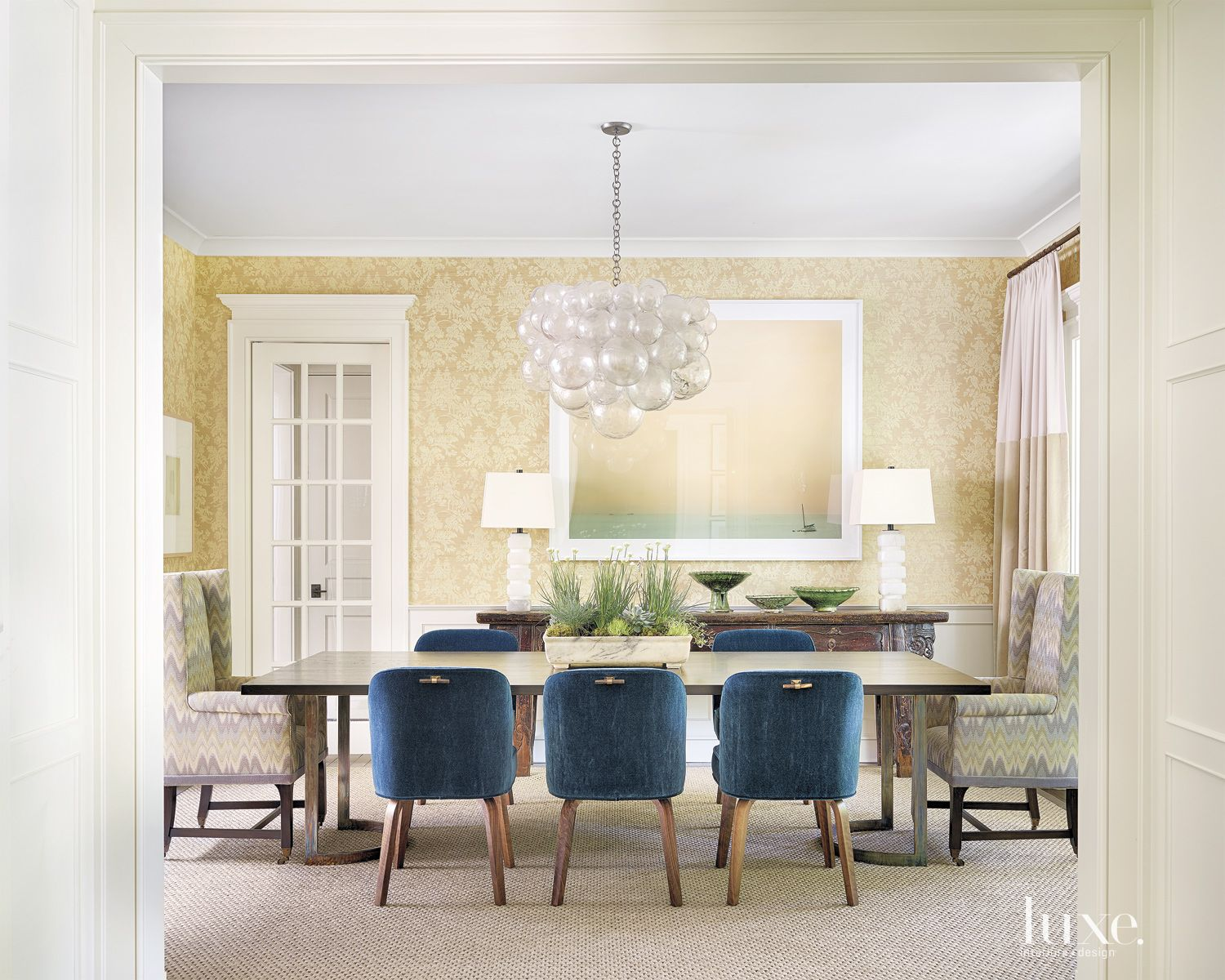 Contemporary Gold Dining Room