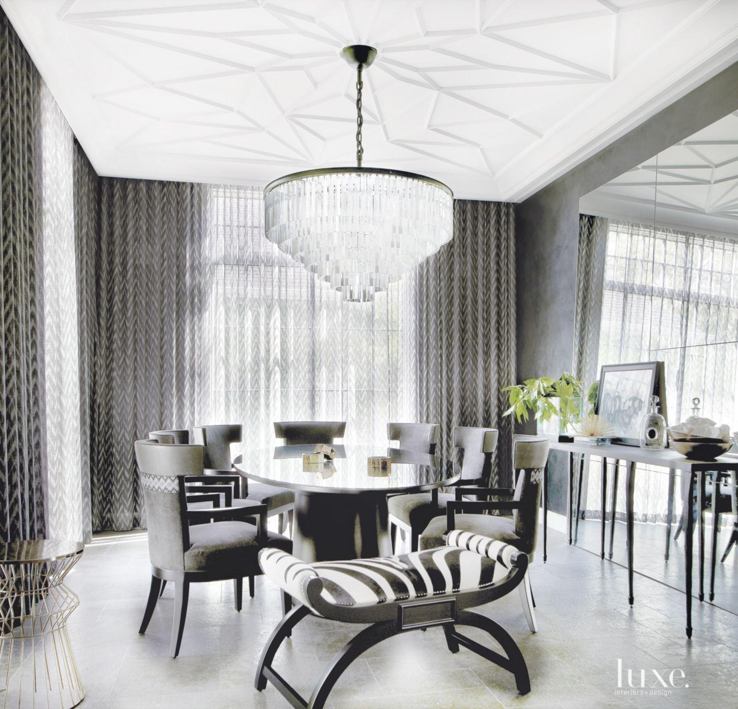 Metallic Eclectic Dining Room