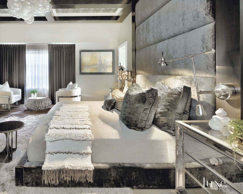 Contemporary Metallic Master Bedroom