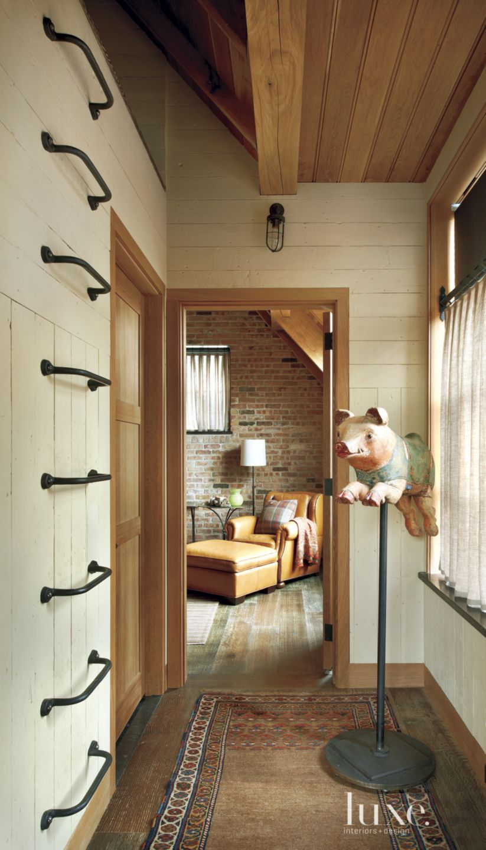 Eclectic Cream Guest Bedroom Entry
