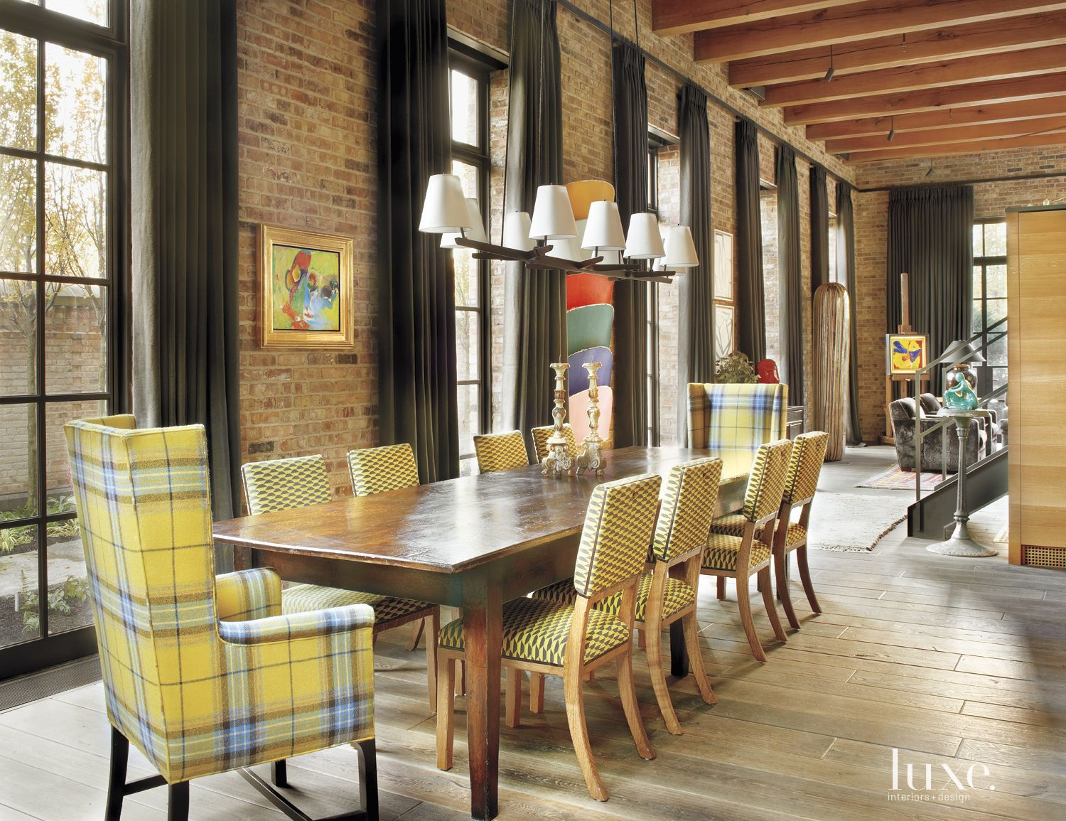Eclectic Multi-Colored Dining Area