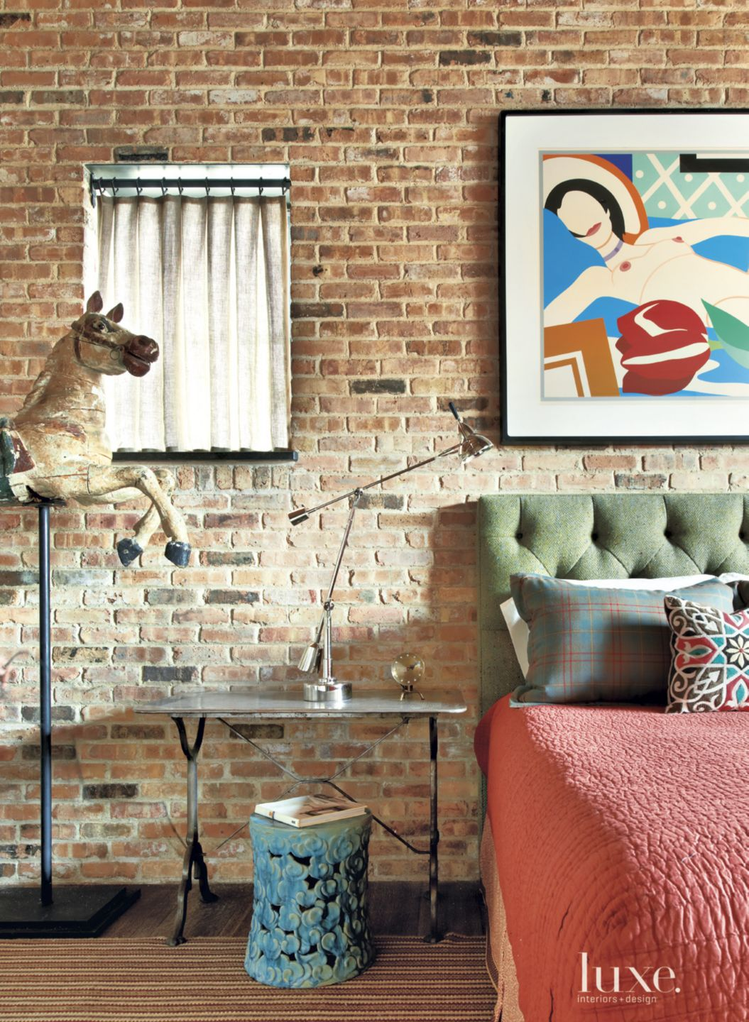 Eclectic Multi-Colored Guest Bedroom