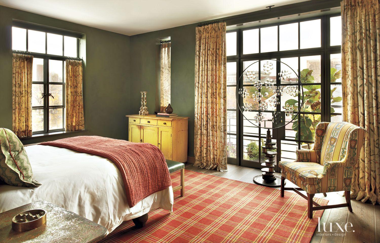 Eclectic Green Guest Bedroom