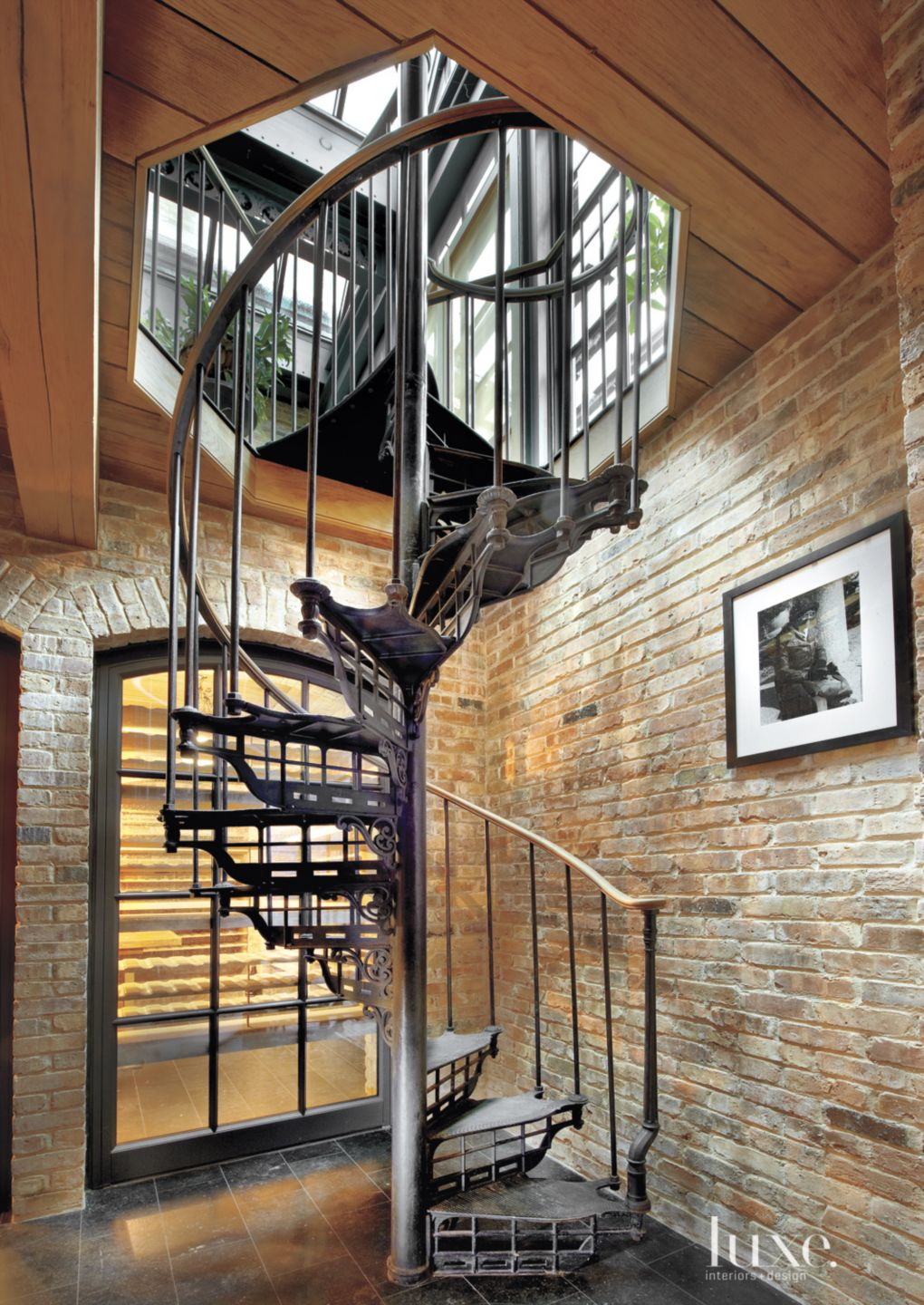 Eclectic Wine Cellar Spiral Staircase
