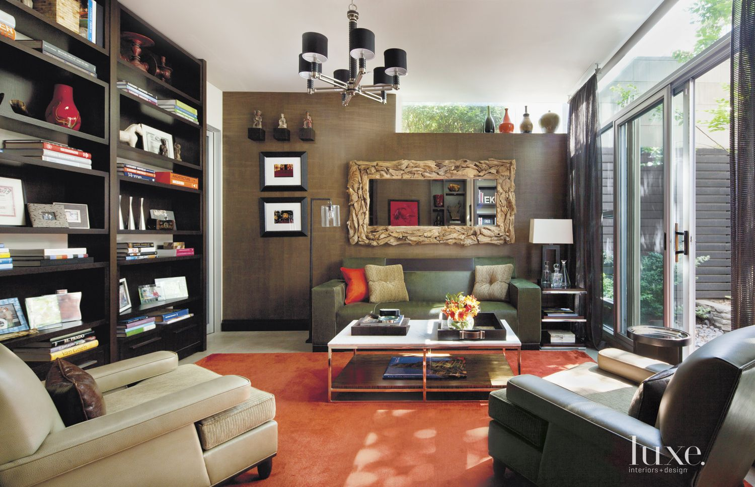 Contemporary Orange-Accented Study