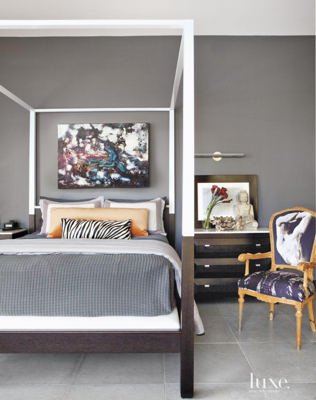 Modern Gray Master Bedroom