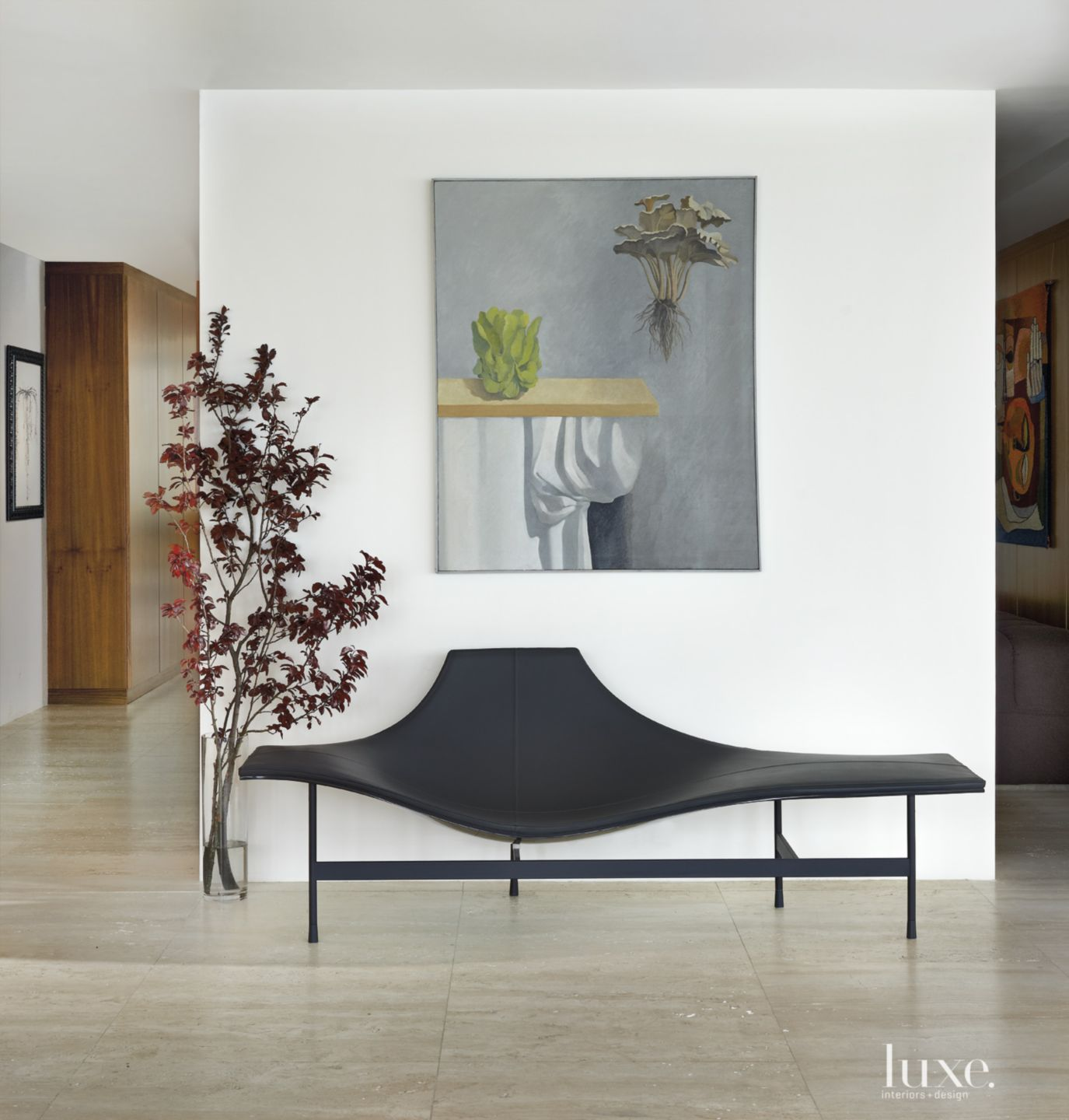Modern White Hall Detail with Gallery Wall