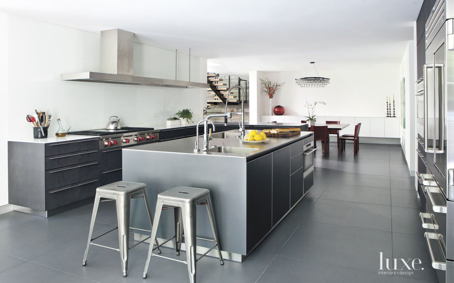 Sprawling Modern Kitchen with Floating Island