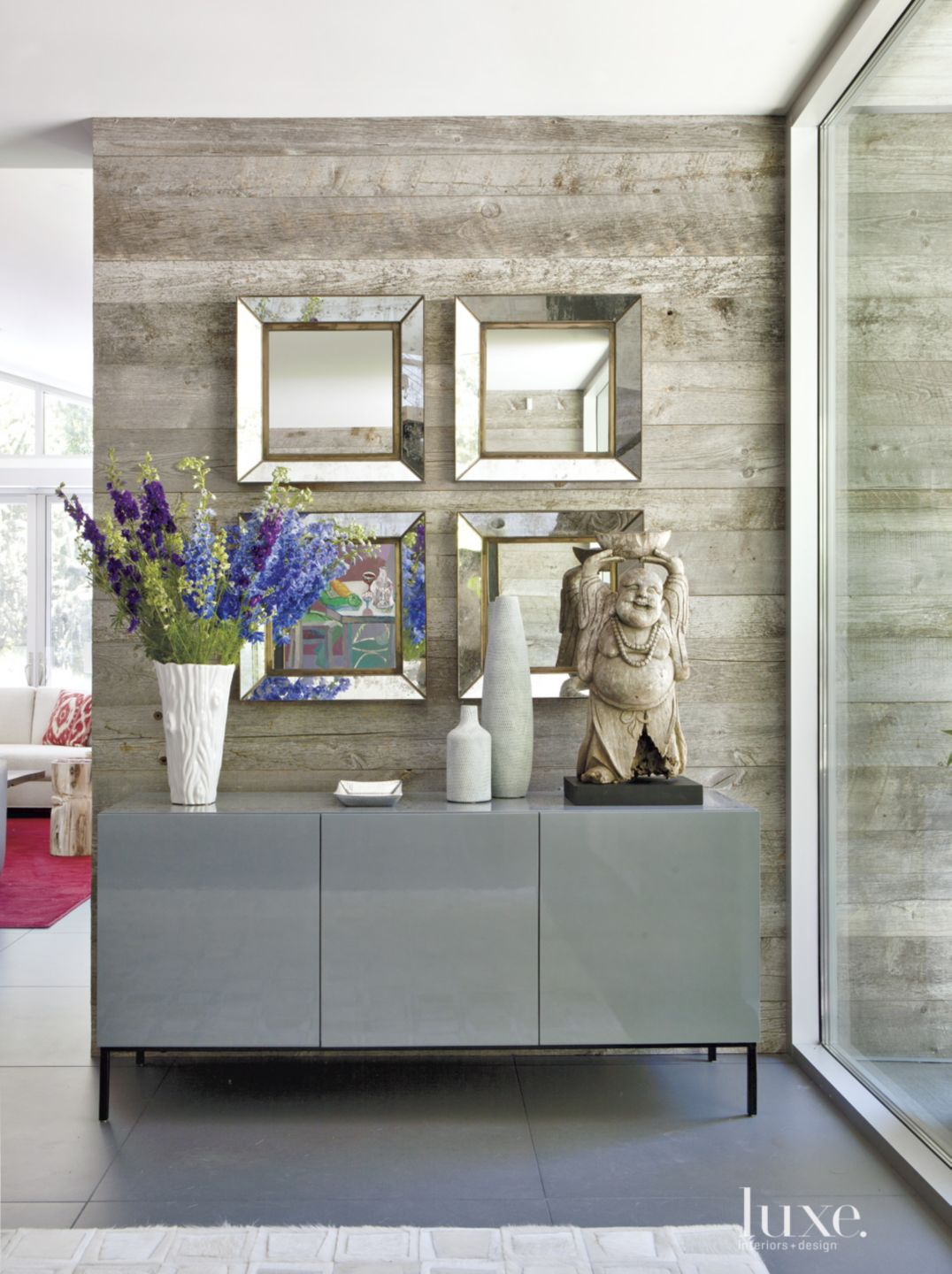 Sunlit Foyer with Contemporary Detail