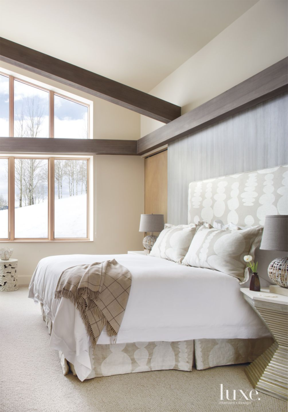 Neutral Mountain Guest Bedroom