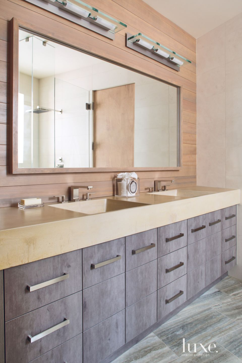 Neutral Mountain Guest Bath Vanity