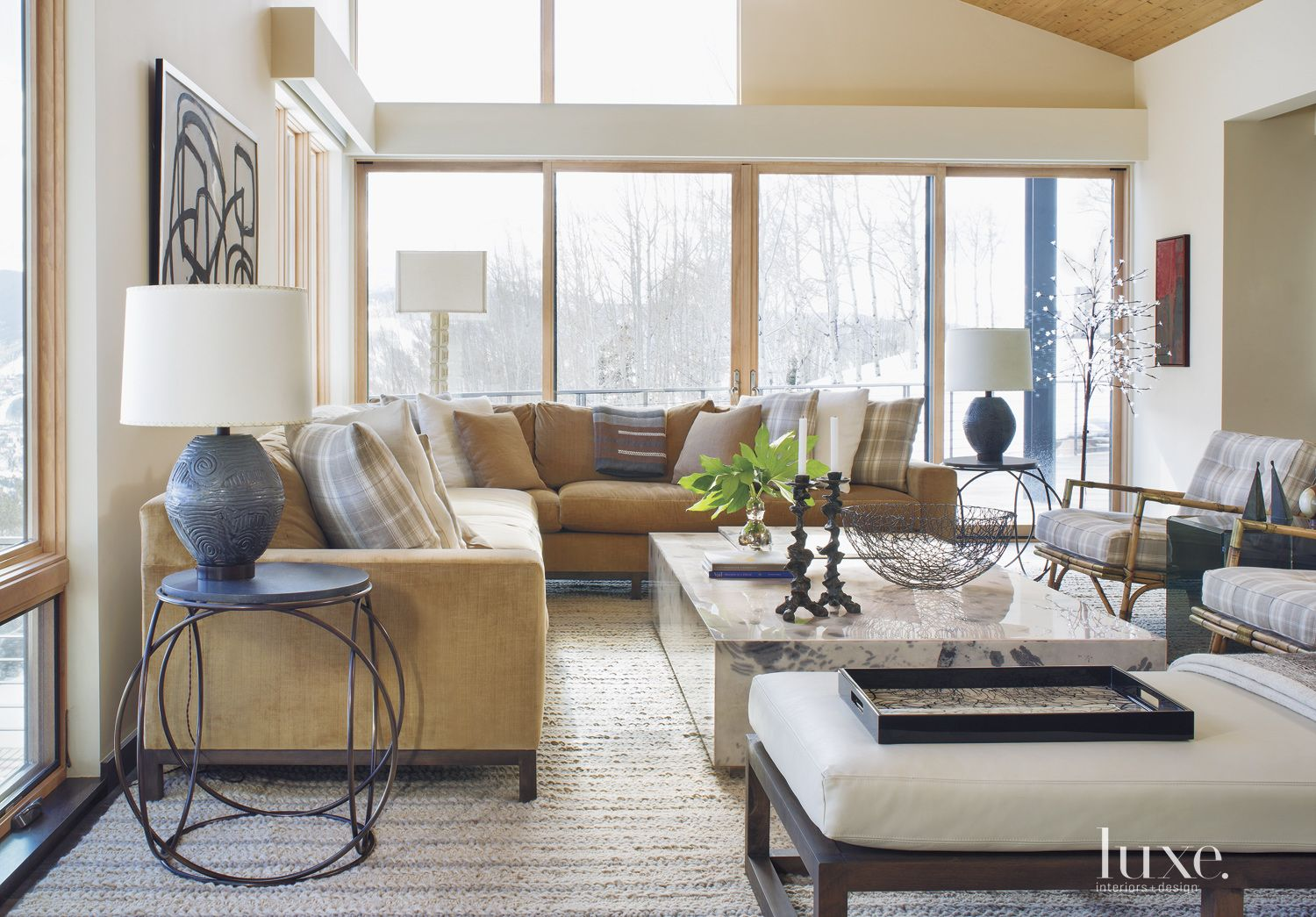 Neutral Mountain Family Room